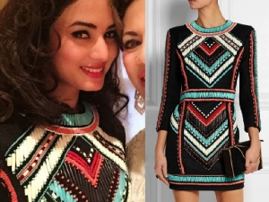 Sonal Chauhan In Beaded Balmain