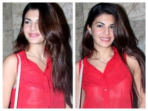 Jacqueline Fernandez Face Wardrobe Malfunction At Hamari Adhuri Kahani Screening