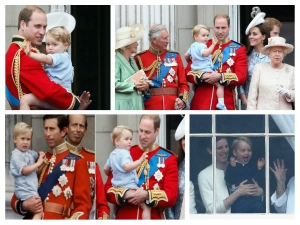 Prince George First Appearance On The Royal Buckingham Balcony For Queens Birthday