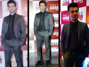 Charming Fawad Khan Dior Suit Vogue Beauy Awards 2015 Red Carpet