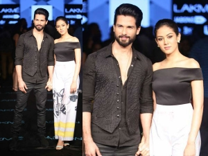 Shahid Kapoor Mira Rajput Walk Masaba Lakme Fashion Week Winter Festive