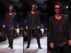 Arjun Rampal Walk For Jabong Bugatti At Lakme Fashion Week