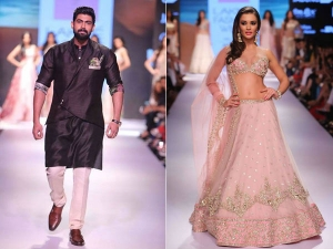 Amy Jackson Rana Daggubati Anushree Reddy Lakme Fashion Week Ramp
