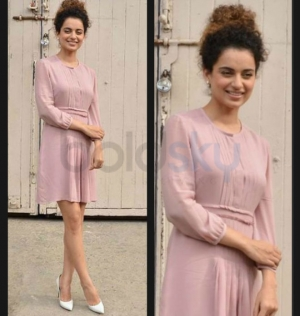Kangana Ranaut Burberry Dress Louis Vuitton Pumps Katti Batti Promotions