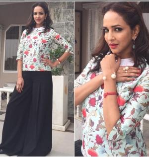Lakshmi Manchu Ash Haute Couture Top Tarun Tahiliani Palazzo
