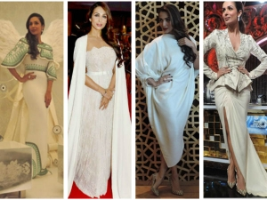 Malaika Arora Khan Style White Dresses
