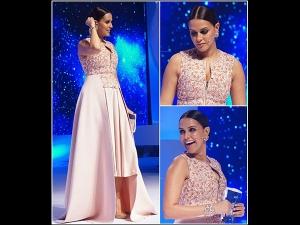 Neha Dhupia In Pankaj And Nidhi At Ndtv Gadget Guru Awards Hyderabad