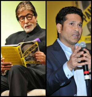 Amitabh Bachchan Sachin Tendulakar At The Book Launch Of Pandeymonium Piyush Pandey