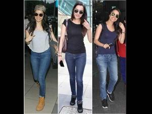 Shraddha Kapoor Hot Airport Looks In Sunglasses Bags And Denim