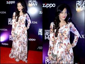 Amrita Rao Hot Floral Maxi Gown Look At Zippo Real Men Party