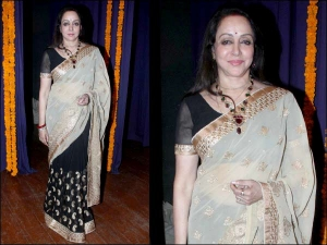 Beautiful Hema Malini Spotted In Sheer Saree At The Album Launch Main Hu Mira