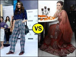 Celebrity Wardrobe Clash Pick The Best Athiya Shetty In Western Sana Khan In Indian