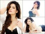 Hot Zarine Khan On The Cover Of Fhm Magazine November Isssue In Denims And Lingerie