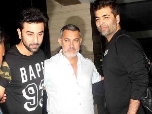 Spotted Karan Johar Ranbir Kapoor In Casual Outfit At Aamir Khan Residence