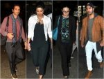 Celebrities At Airport Check Out Their Travel Outfits