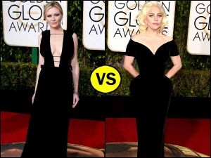 Golden Globes 2016 Lady Gaga Kirsten Dunst In Black Gown