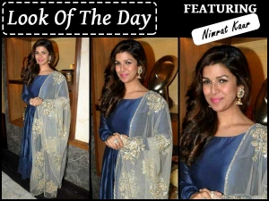 Look Of The Day Nimrat Kaur For Airlift Press Conference