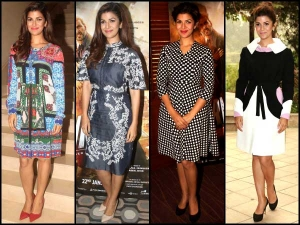 Nimrat Kaur Airlift Promotion Outfits