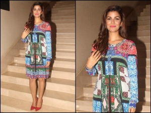 Nimrat Kaur Promoting Airlift In A Printed Dress