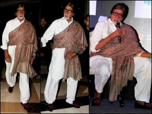 Amitabh Bachchan At Hema Malini Album Launch In White Kurta