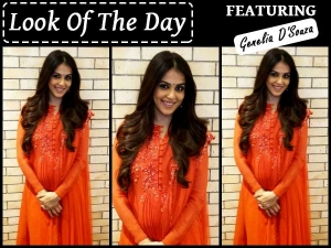 Look Of The Day Genelia Dsouza In Ridhi Mehra Suit