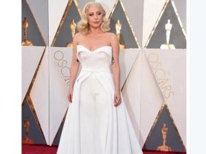 Oscars 2016 Lady Gaga Shines In White