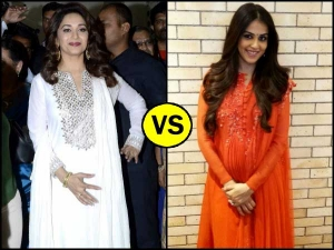 Madhuri Dixit Genelia Dsouza Wearing Indian Suits