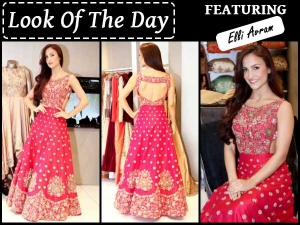 Look Of The Day Elli Avram In Kalki Outfit
