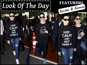 Look Of The Day Kapoor Sisters In Sweatshirts