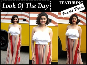 Look Of The Day Prachi Desai Promoting Movie Azhar