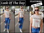 Look Of The Day Amy Jackson Boards A Flight In Casuals