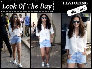 Look Of The Day Alia Bhatt At Mehboob Studio In Casuals