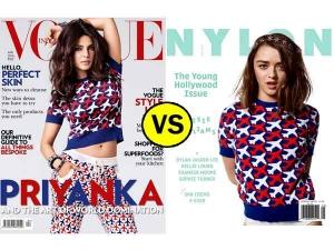 Magazine Cover Face Off Priyanka Chopra Vogue Vs Maisie Williams Nylon
