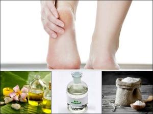 Diy Rice Vinegar Salt And Olive Oil To Fix Cracked Heels