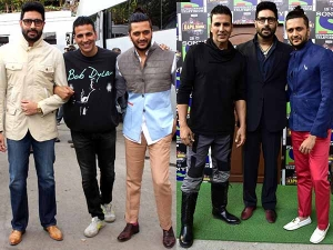 Housefull 3 Promotions Men In Fashionable Outfits Check It Out