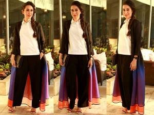 Karishma Kapoor In Maxi Jacket At Kids Wear Store Launch