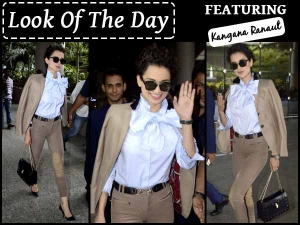 Look Of The Day Kangana Ranaut Dressed To Slay In Formals At Airtport