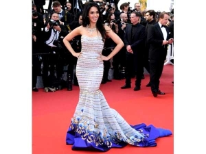 Mallika Sherawat At Cannes Film Festival Wearing Georges Hobeika