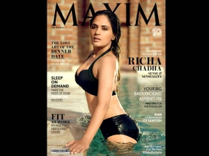 Maxim May Issue Richa Chadha Sexy Swimsuit Covergirl Check It Out