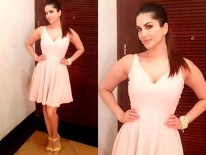 Sunny Leone In Amodini By Vaishali Jain Dress
