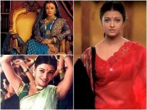 Aishwarya Rai Saree Iconic Movie Stills Of Aishwarya Rai Wearing A Sar