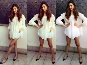 Deepika Padukone Iifa 2016 Dressed In White Tunic And Shorts