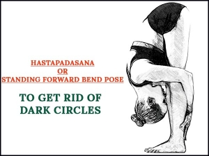 Hastapadasana Standing Forward Bend Pose To Get Rid Of Dark Circles