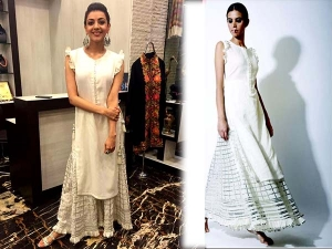 Kajal Aggarwal Fashion Dressed In A Sukriti And Aakriti Outfit