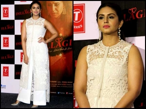 Look Of The Day Huma Qureshi Dillagi Song Launch Dressed In White