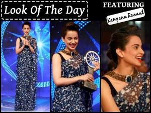 Look Of The Day Kangana Ranaut Cnn Ibn Indian Of The Year Award