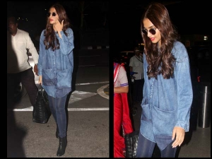 Look Of The Day Sonam Kapoor Dressed In Denim On Denim Style