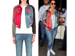 Priyanka Chopra Fashion Pc Returns From Madrid Wearing Classy Jacket
