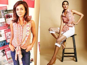 Ira Dubey For Mcream Promotions Wearing Ritika Bharwani Outfit