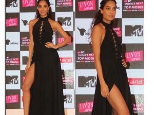 Lisa Haydon Indias Next Top Model Launch Dressed In Deme